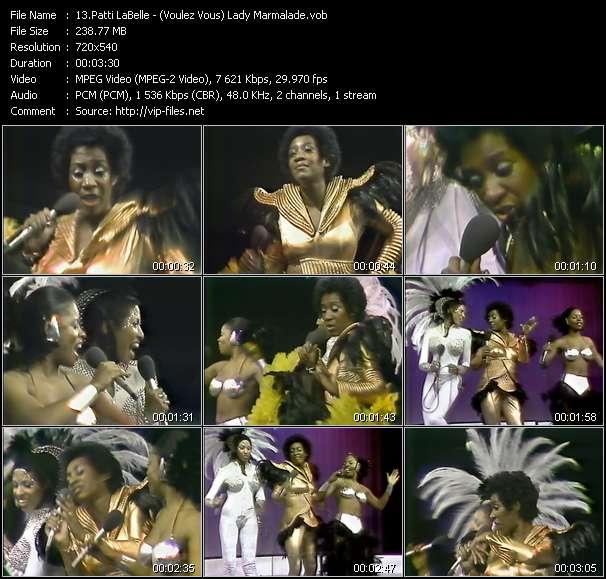 Screenshot of Music Video Patti LaBelle - (Voulez Vous) Lady Marmalade