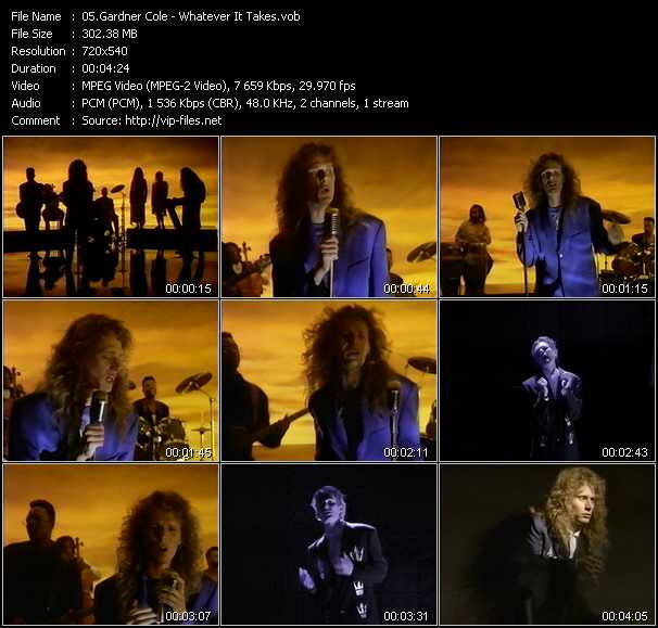 Screenshot of Music Video Gardner Cole - Whatever It Takes