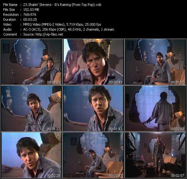 Shakin' Stevens video vob
