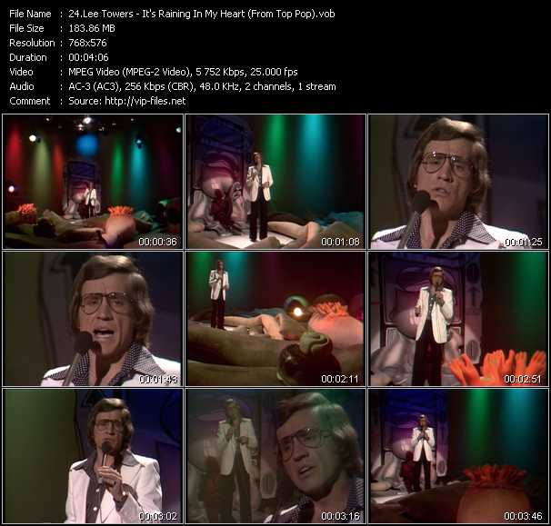 Screenshot of Music Video Lee Towers - It's Raining In My Heart (From Top Pop)