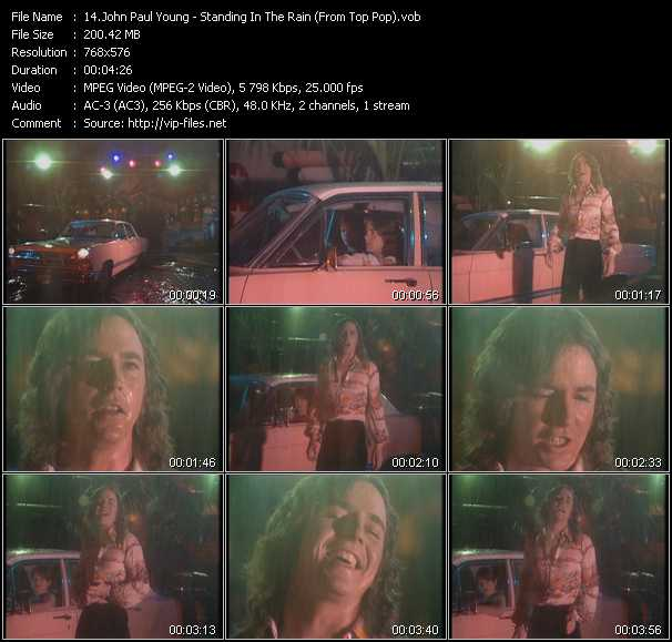 Screenshot of Music Video John Paul Young - Standing In The Rain (From Top Pop)