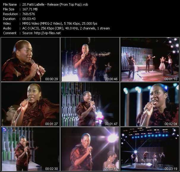 Screenshot of Music Video Patti LaBelle - Release (From Top Pop)