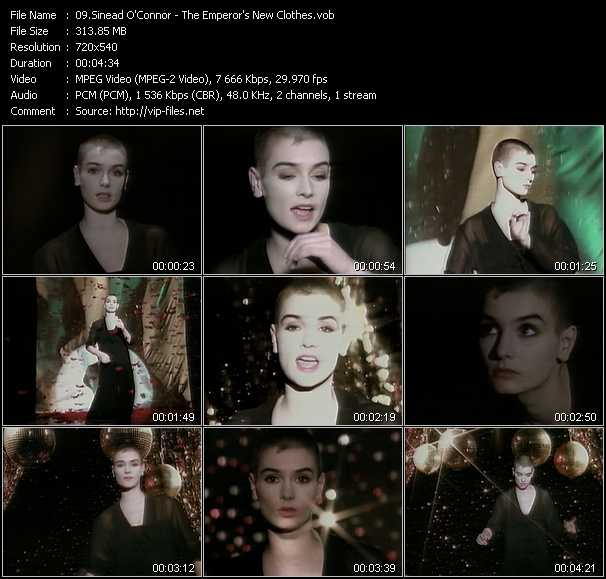 Sinead O'Connor video vob