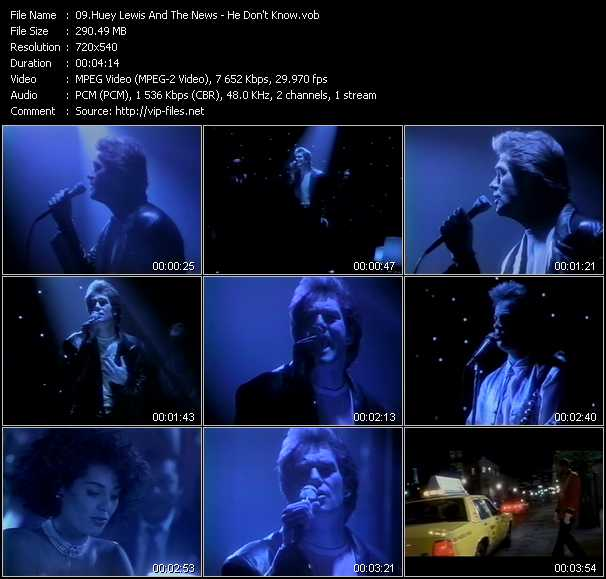 Huey Lewis And The News video vob