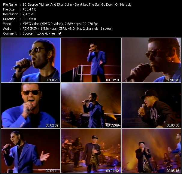 George Michael And Elton John video vob