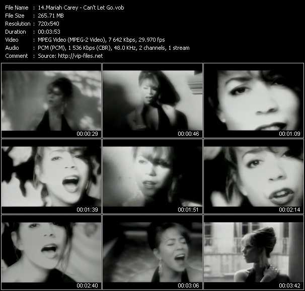 Mariah Carey video vob