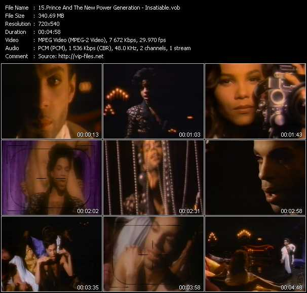 Prince And The New Power Generation video vob