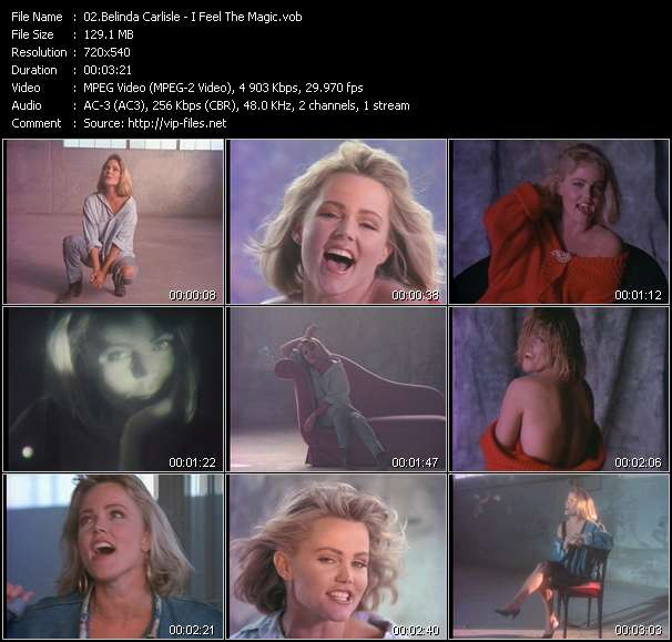 Screenshot of Music Video Belinda Carlisle - I Feel The Magic
