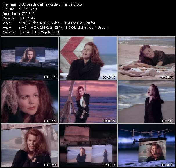 Screenshot of Music Video Belinda Carlisle - Circle In The Sand