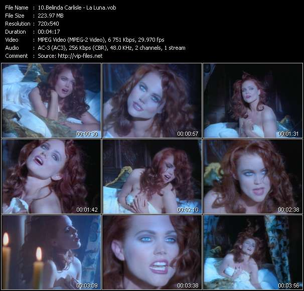 Screenshot of Music Video Belinda Carlisle - La Luna