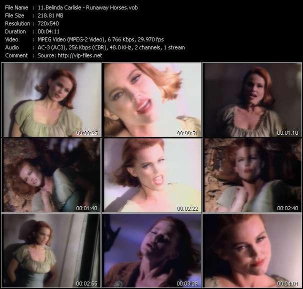 Screenshot of Music Video Belinda Carlisle - Runaway Horses
