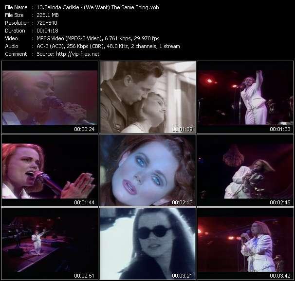 Screenshot of Music Video Belinda Carlisle - (We Want) The Same Thing