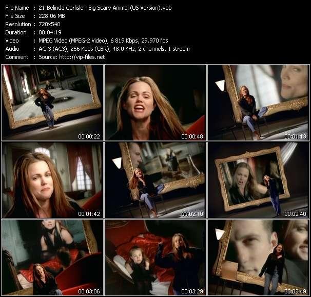 Screenshot of Music Video Belinda Carlisle - Big Scary Animal (US Version)