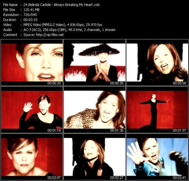 Screenshot of Music Video Belinda Carlisle - Always Breaking My Heart