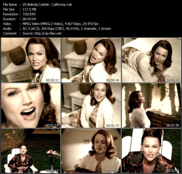 Screenshot of Music Video Belinda Carlisle - California
