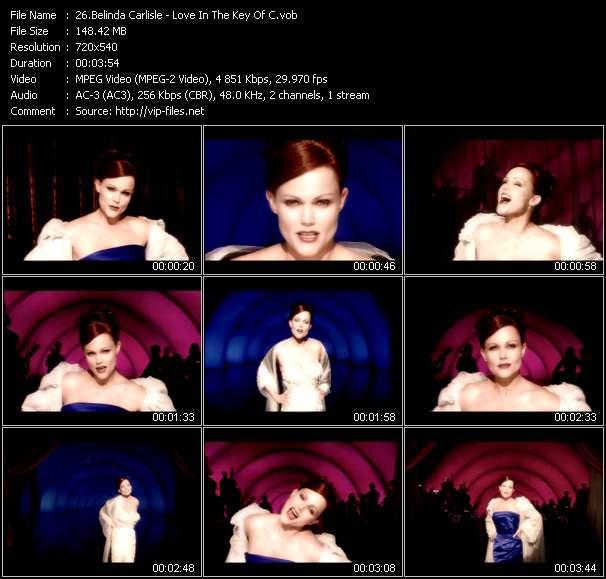 Screenshot of Music Video Belinda Carlisle - Love In The Key Of C
