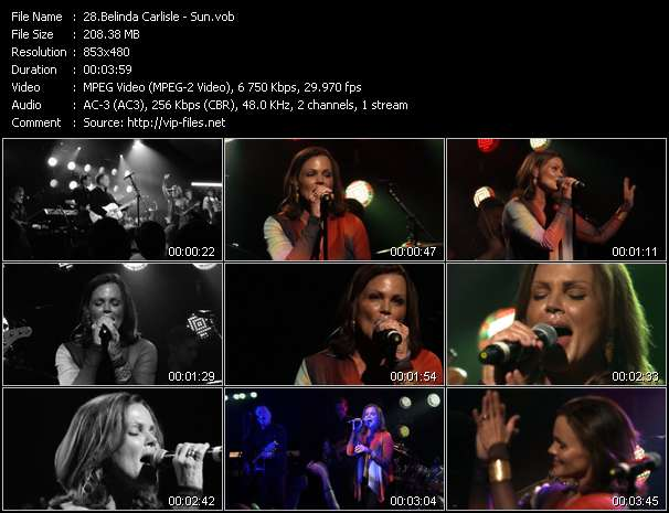 Screenshot of Music Video Belinda Carlisle - Sun