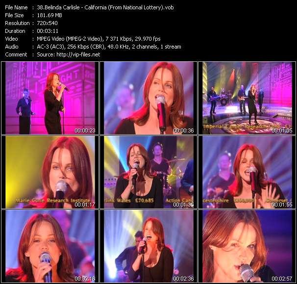 Screenshot of Music Video Belinda Carlisle - California (From National Lottery)