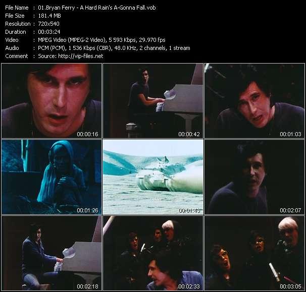 Screenshot of Music Video Bryan Ferry - A Hard Rain's A-Gonna Fall
