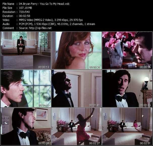 Screenshot of Music Video Bryan Ferry - You Go To My Head