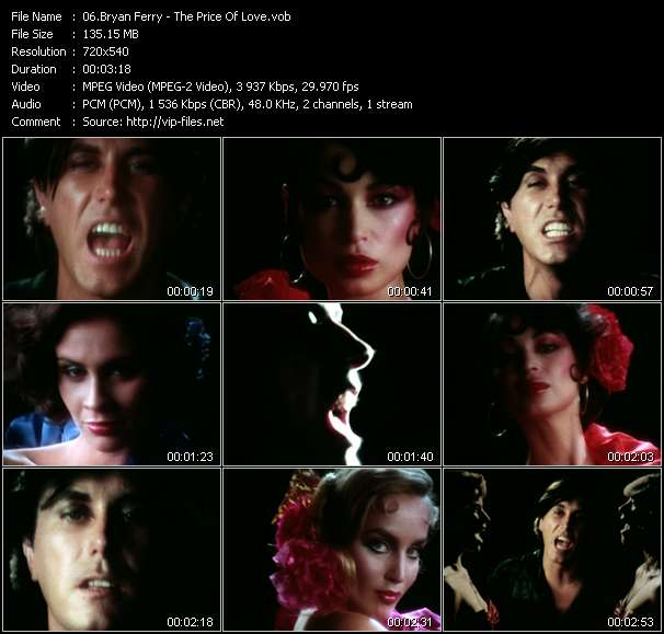 Screenshot of Music Video Bryan Ferry - The Price Of Love
