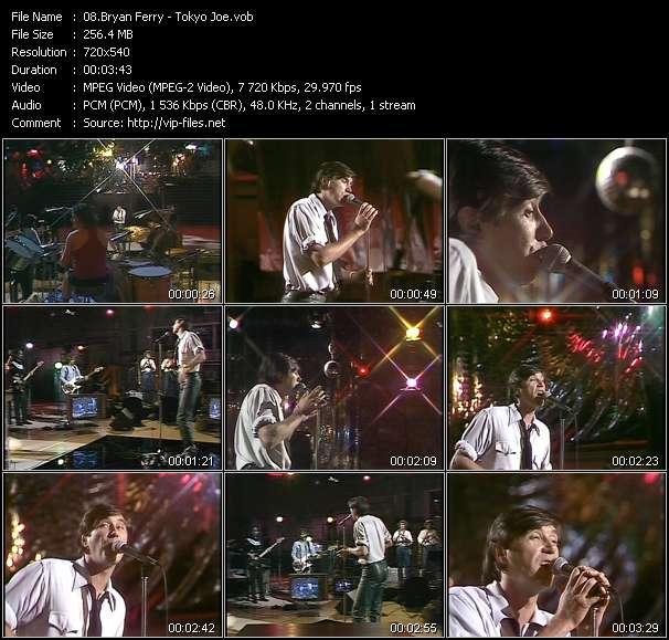 Screenshot of Music Video Bryan Ferry - Tokyo Joe