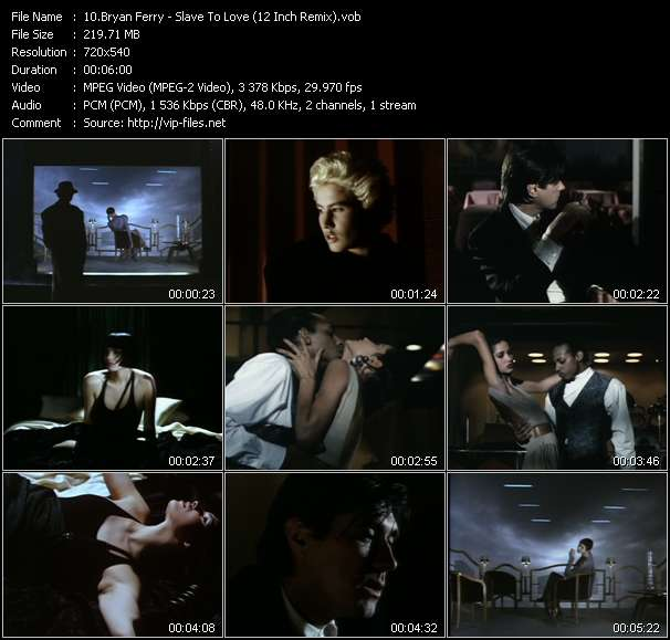 Screenshot of Music Video Bryan Ferry - Slave To Love (12 Inch Remix)