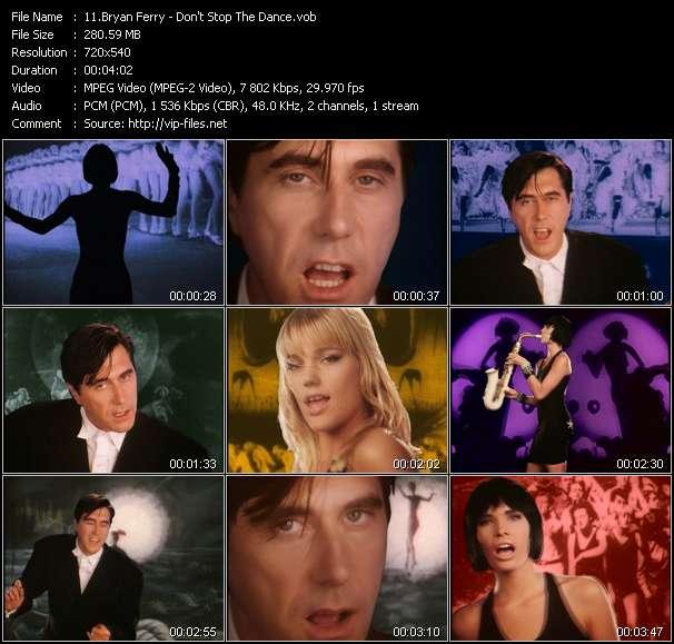 Screenshot of Music Video Bryan Ferry - Don't Stop The Dance