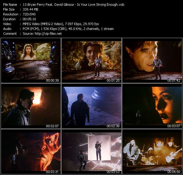 Screenshot of Music Video Bryan Ferry Feat. David Gilmour - Is Your Love Strong Enough