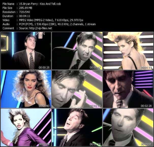 Screenshot of Music Video Bryan Ferry - Kiss And Tell