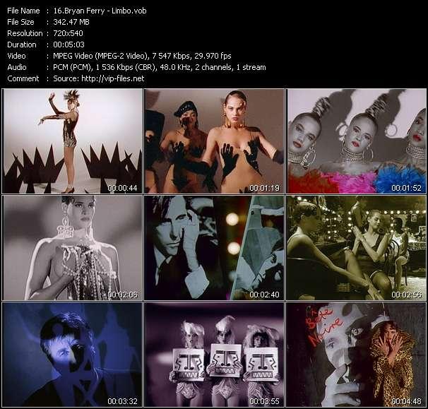 Screenshot of Music Video Bryan Ferry - Limbo