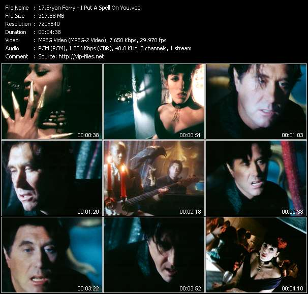 Screenshot of Music Video Bryan Ferry - I Put A Spell On You