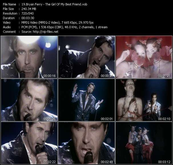 Screenshot of Music Video Bryan Ferry - The Girl Of My Best Friend