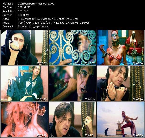 Screenshot of Music Video Bryan Ferry - Mamouna