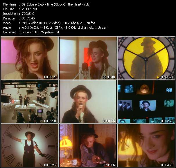 Screenshot of Music Video Culture Club - Time (Clock Of The Heart)
