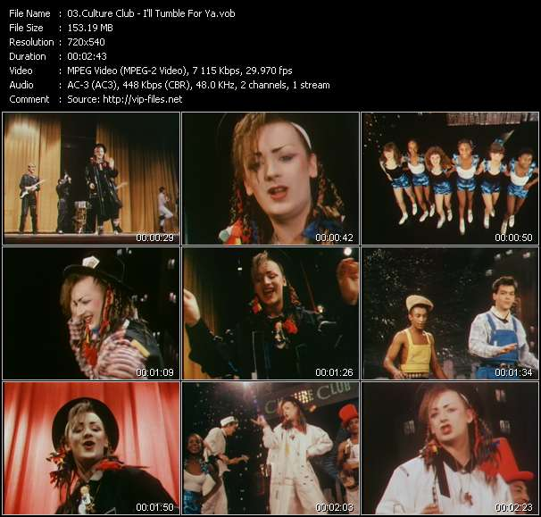 Screenshot of Music Video Culture Club - I'll Tumble For Ya