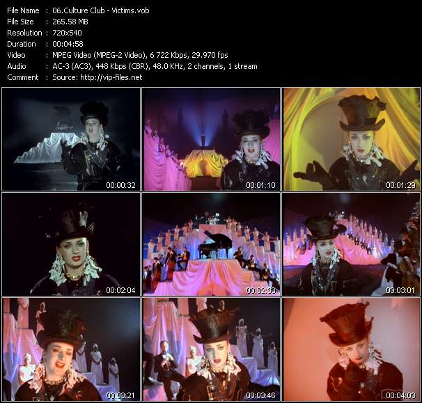 Screenshot of Music Video Culture Club - Victims