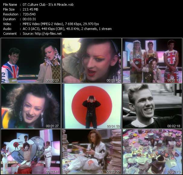 Screenshot of Music Video Culture Club - It's A Miracle