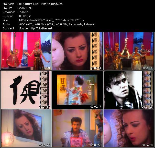Screenshot of Music Video Culture Club - Miss Me Blind