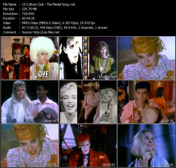 Screenshot of Music Video Culture Club - The Medal Song