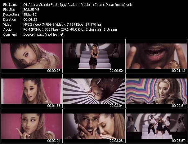 Screenshot of Music Video Ariana Grande Feat. Iggy Azalea - Problem (Cosmic Dawn Remix)