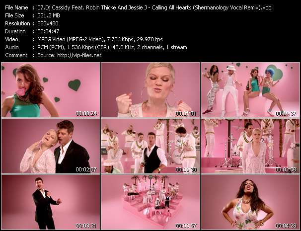 Screenshot of Music Video Dj Cassidy Feat. Robin Thicke And Jessie J - Calling All Hearts (Shermanology Vocal Remix)