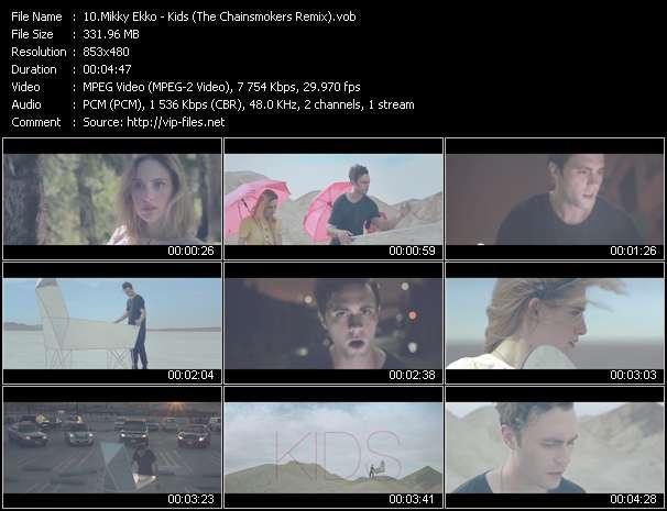 Screenshot of Music Video Mikky Ekko - Kids (The Chainsmokers Remix)