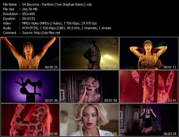 Screenshot of Music Video Beyonce - Partition (Tom Stephan Remix)