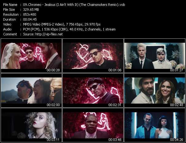 Screenshot of Music Video Chromeo - Jealous (I Ain't With It) (The Chainsmokers Remix)