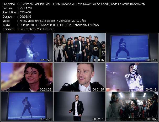 Screenshot of Music Video Michael Jackson Feat. Justin Timberlake - Love Never Felt So Good (Fedde Le Grand Remix)