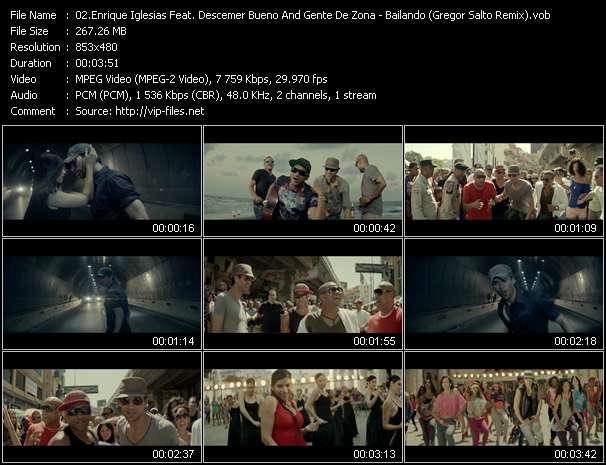 Screenshot of Music Video Enrique Iglesias Feat. Descemer Bueno And Gente De Zona - Bailando (Gregor Salto Remix)