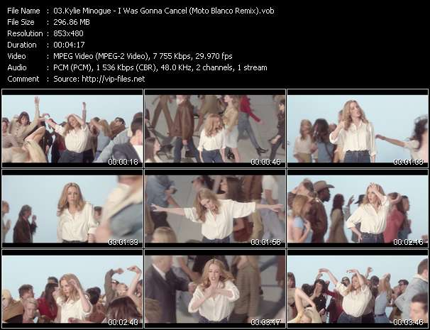 Screenshot of Music Video Kylie Minogue - I Was Gonna Cancel (Moto Blanco Remix)