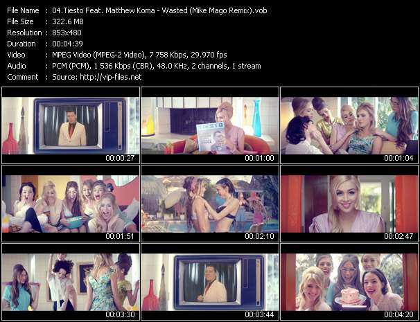 Screenshot of Music Video Tiesto Feat. Matthew Koma - Wasted (Mike Mago Remix)