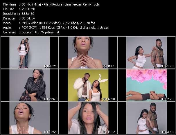 Screenshot of Music Video Nicki Minaj - Pills N Potions (Liam Keegan Remix)